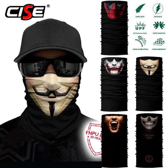3D Seamless Clown Joker Deadpool Balaclava Magic Warmer Motorcycle Breathable Mask Neck Gaiter Durag Headband Bandana Scarf