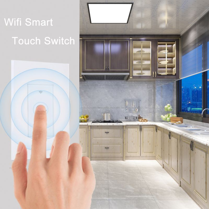 For Alexa / Google APP 1/2/3 Gang WiFi Smart Switch With RF Function Smart Home EWeLink APP 86 Model Panel Switch WiFi Wall