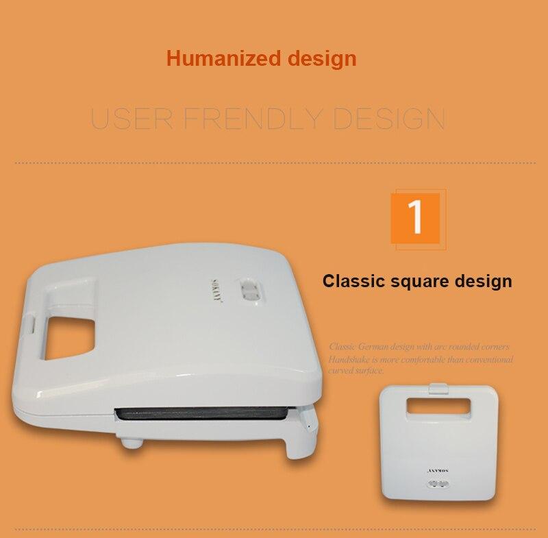 220V электрическая машина для производства сэндвич дома бутербродов на завтрак машина 2 шт. постоянного Температура тостер с антипригарным покрытием