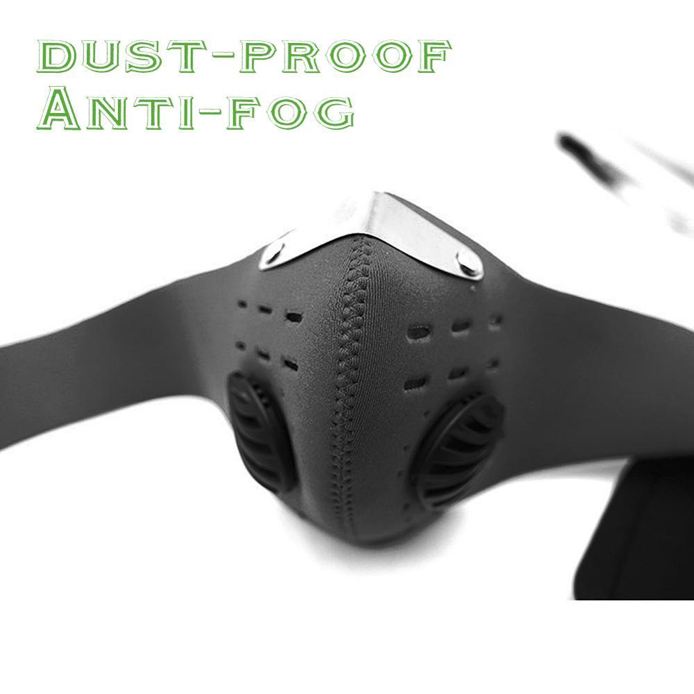 Mascarilla de seguridad antipolvo para conducción, máscara respirador con filtro de aire para motocicleta, Anti-olor, Anti-humo, mascarilla de Seguridad, 1 unidad