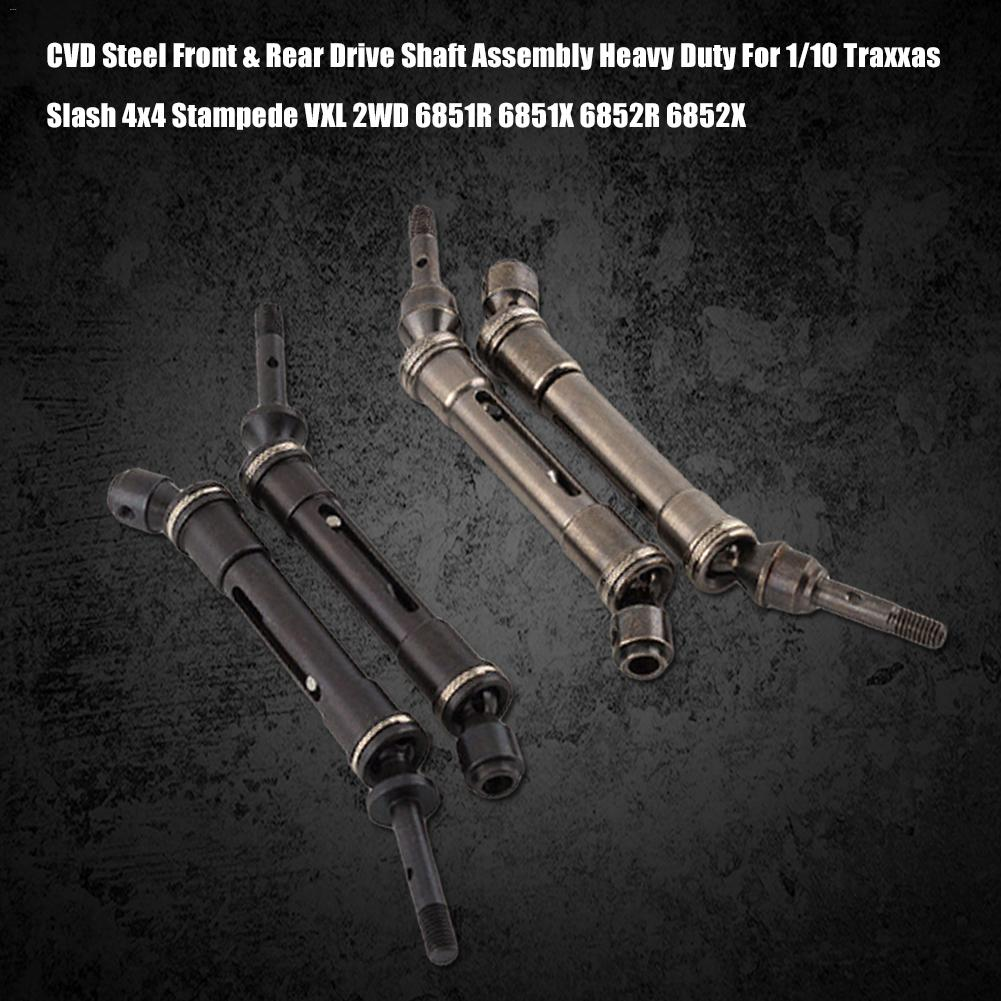CVD Steel Front & Rear Drive Shaft Assembly Heavy Duty For 1/10 Traxxas Slash 4x4 Stampede VXL 2WD 6851R 6851X 6852R 6852X(China)