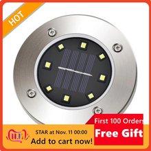 Solar Ground Lights Solar Disk Lights Outdoor Waterproof For Garden Pathway Lawn Driveway Walkway Lawn Light