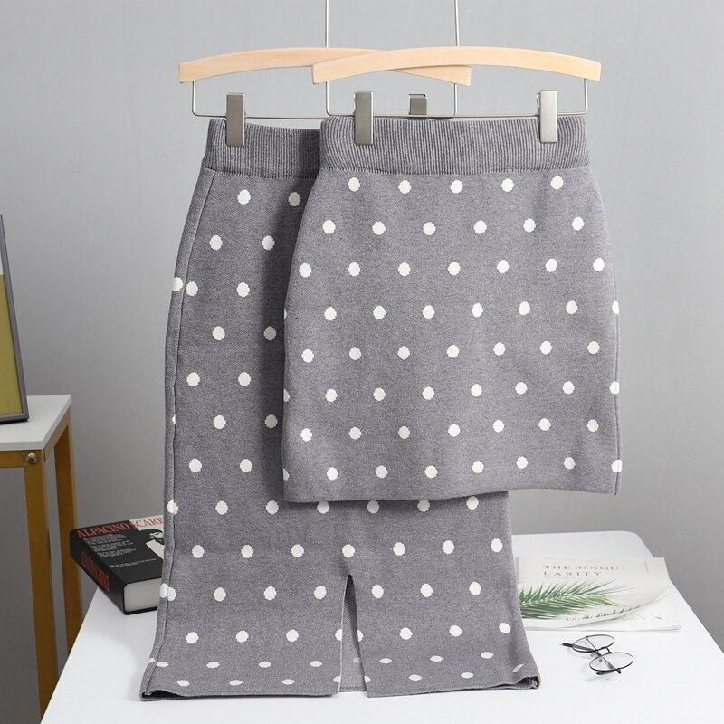 Женская Длинная трикотажная юбка карандаш GIGOGOU, черная теплая длинная юбка карандаш в горошек на осень и зиму Юбки      АлиЭкспресс