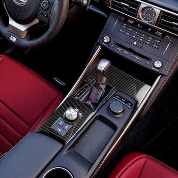 For LEXUS IS250 IS350 2014-2018 Carbon Fiber Gear Shift Box Panel Cover Trim