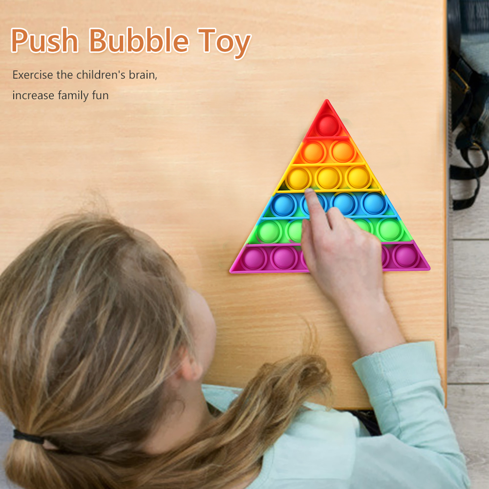 Decompression-Toys Puzzle Anti-Stress Push Bubbles Funny Triangle Safe Desktop Early-Education img4