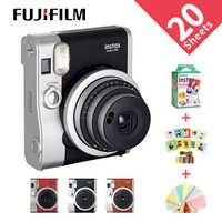 Fujifilm genuína instax mini 90 filmes câmera venda quente nova foto instantânea 2 cores preto marrom