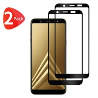 TBOC 2X Protector Screen 5D for Samsung Galaxy A6 Plus A6 + [2018] [6 \] [2 Units] vidrio Tempered Protection Full