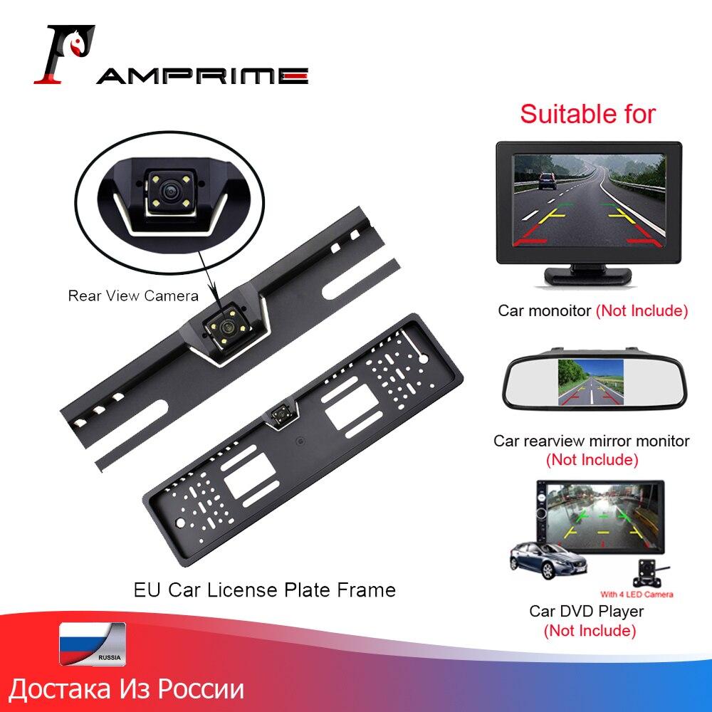 AMPirme  Waterproof European License Plate Frame Rear View Camera Auto Car Reverse Backup Parking Rearview Camera Night Vision