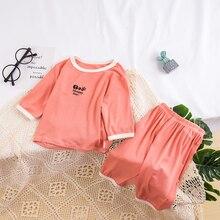 Kids Sleepwear Pajamas Cotton-Sets Baby-Girl Boys Summer 1-12Y Susuray Unisex