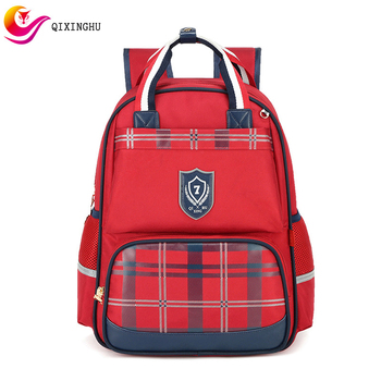 QIXINGHU Brand Student School Bag Boy Girl Bookbag Grades 1-6 British Style Backpack Kid Students Bag High Capacity Schoolbag
