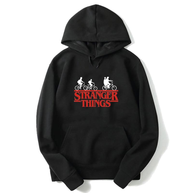 New Stranger Things Series 2D Printed Hoodies Black Strabfer Sweatshirts Sudadera Stranger Thing Mujer Men/women Outwear