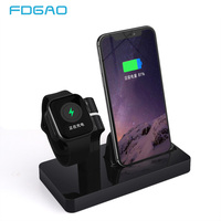 FDGAO 2 IN 1 Charging Dock Station Cradle Stand Charging Holder For iWatch iPhone 11 Pro X XR XS Max 8 7 6 Plus For Apple Watch