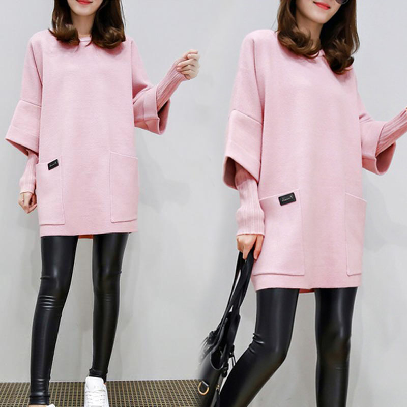 New Women Fake Two Pieces Sweatershirt Winter Autumn Thick Tops Loose Pullover Plus Size MV66