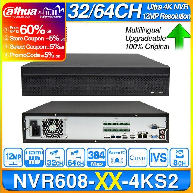 ¡Dahua NVR NVR4104HS P 4KS2 NVR4108HS 8P 4KS2 con 4/8ch PoE Puerto H.265 Video grabador ONVIF apoyo CGI Metal POE NVR!