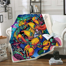 Autobots transformation robot Blanket Design Flannel Fleece Blanket Printed Children Warm Bed Throw Blanket Kids Blanket style-3