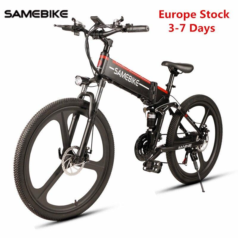 Europe Stock Samebike LO26 vélo électrique cyclisme 48V 350W / 500W E vélo électrique vtt vélo moteur pliant Ebike vélo électrique