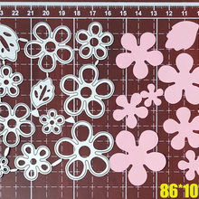 Stencil Die-Mold Flower-Leaves-Set Cutting-Dies Metal Embossing-Card-Decorative Craft
