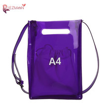 RIEZMAN Bags For Women 2020 New Transparent PVC Jelly Bag Crossbody Bags For Women Summer Ladies Beach Bag Shoulder Bag Handbag