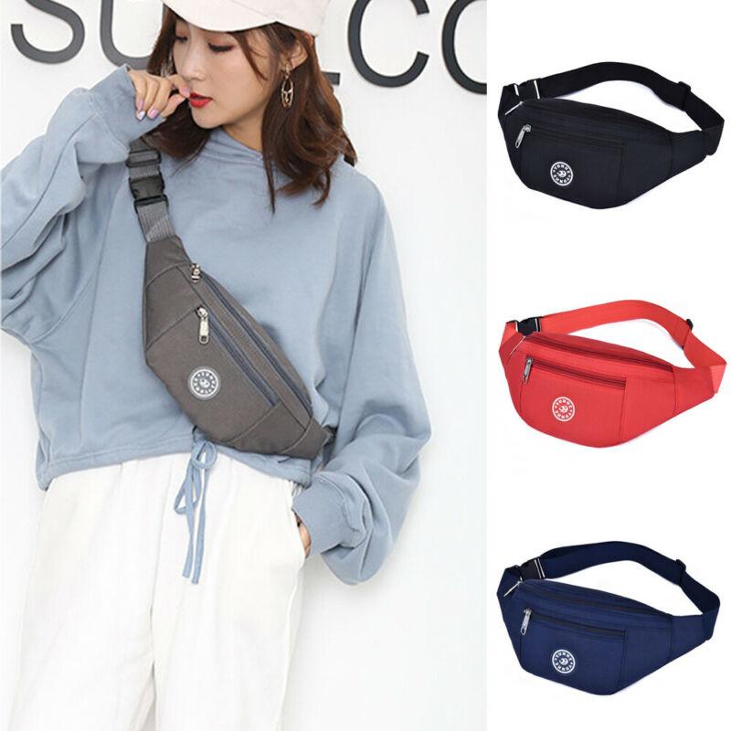 Men Women Waist Bum Bag Fanny Pack Belt Money Pouch Wallet Zip Travel Hiking Bag