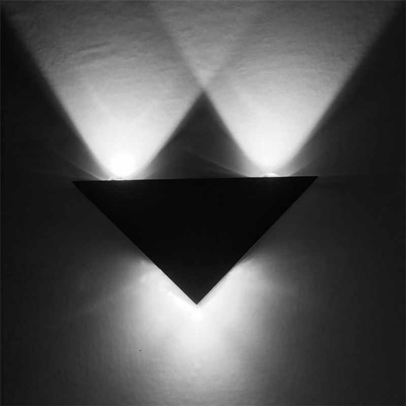 Moderne Minimalist LED Trangle Wand Lampe Aluminium Körper Nacht Lampe für Wohnzimmer Bad Gang Decor Lampara Led Spiegel Licht