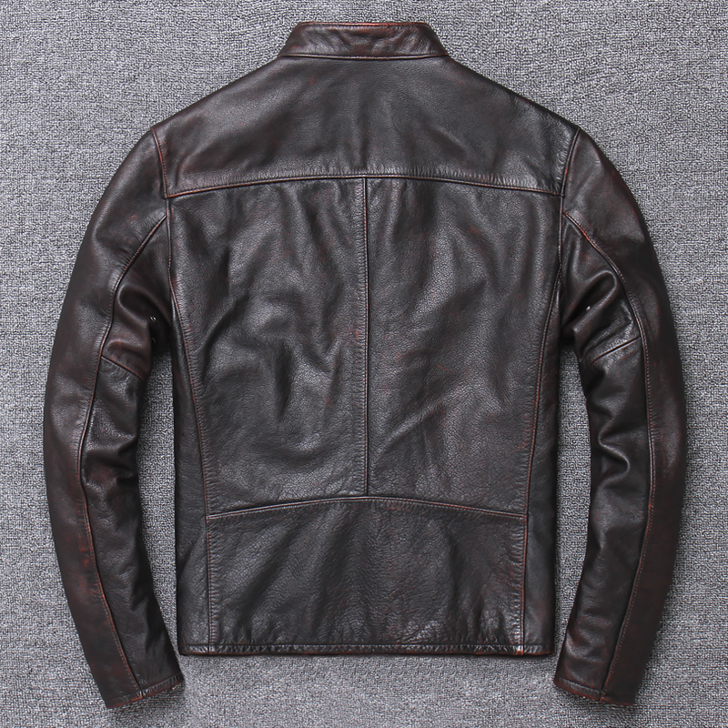 Free Shipping.vintage Casual Style Warm Man Coat,winter Cowhide Jacket,genuine Leather Coat.plus Size Homme Slim,cool