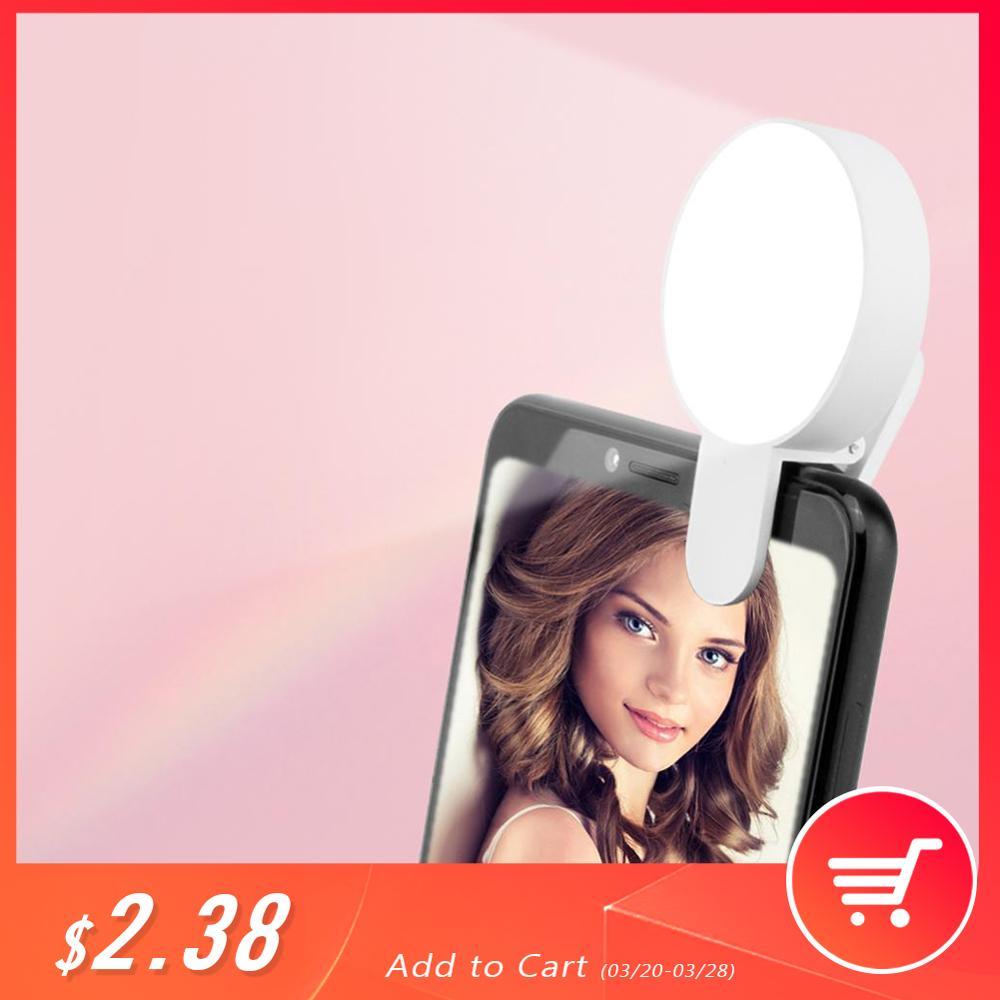 携帯電話 LED Selfie リングライトポータブルサークル写真クリップライト美容記入ランプ携帯電話カメラ充電式