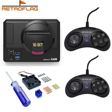 Retroflag MEGAPi Case with Classic Wired USB Gamepad Game Controller Functional Button for Raspberry Pi 3 B Plus (3B+) / 3B / 2B