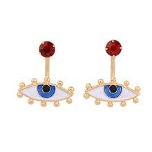 2019 New Design Summer Earrings For Women Fashion Jewelry Cute Enamel Eyes Stud