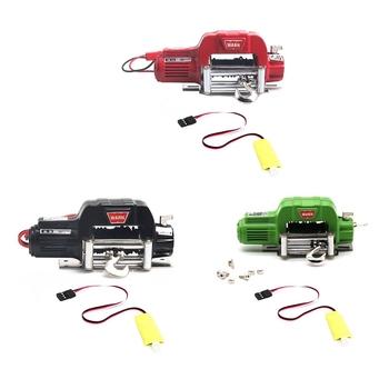 Metal automatyczna wciągarka ręczna z 3CH przewód sterujący dla 1 10 gąsienica RC oś samochodu SCX10 TRAXXAS TRX4 części zamienne akcesoria tanie i dobre opinie CN (pochodzenie) 12 + y NONE