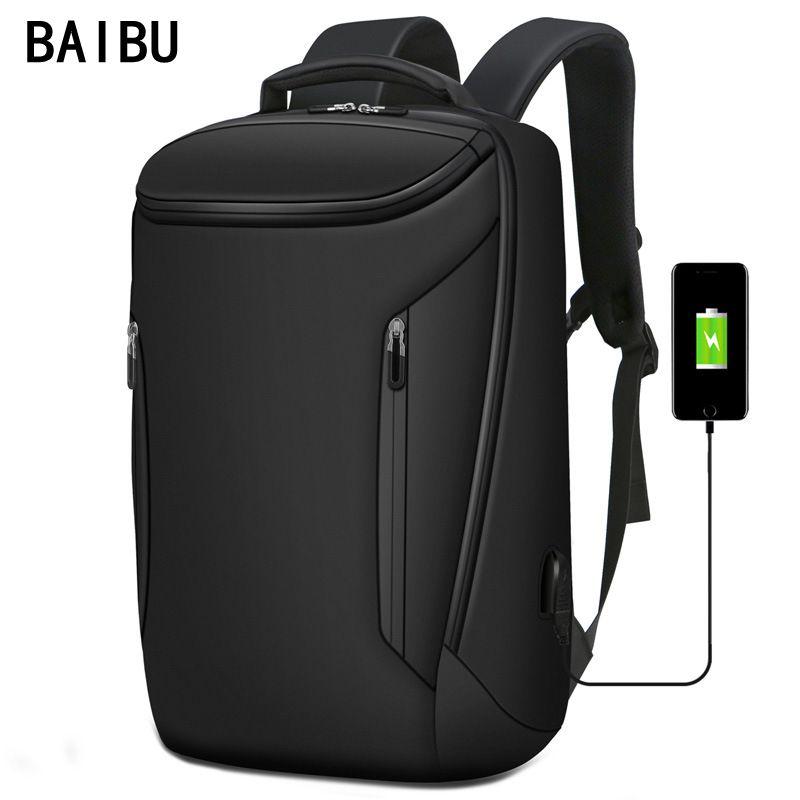 Hommes nouveau Anti-voleur mode hommes sac à dos multifonctionnel étanche 15.6 pouces pochette d'ordinateur homme USB charge sac de voyage