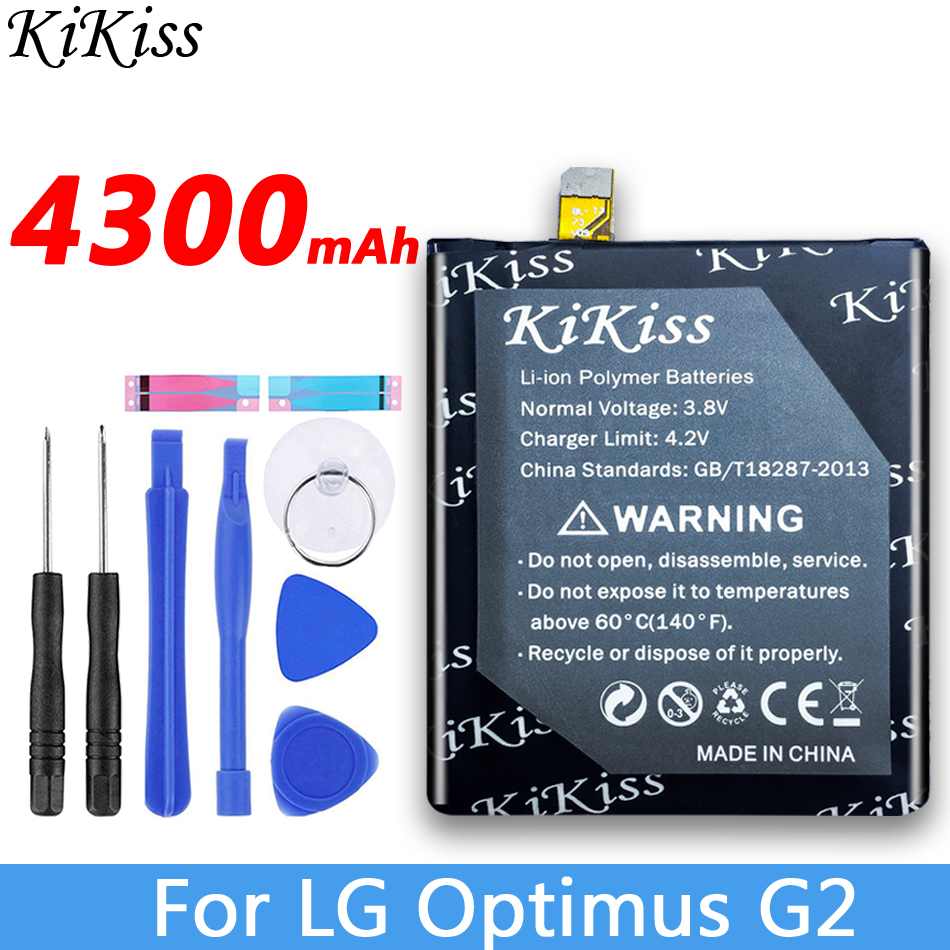 KiKiss <font><b>BL</b></font>-<font><b>T7</b></font> Lithium Polymer Rechargeable Battery For <font><b>LG</b></font> Optimus G2 D802 D800 D801 VS980 LS980 D803 <font><b>BL</b></font> <font><b>T7</b></font> Batteries 4300mAh image