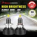 Светодиодный головной фонарь BULLVISION 360 лм H7 3D 9012 градусов H4 9005 HIR2 H1 H11 H8 H9 9006 6000 HB3 HB4 CSP чипы 8000K автомобильная фара