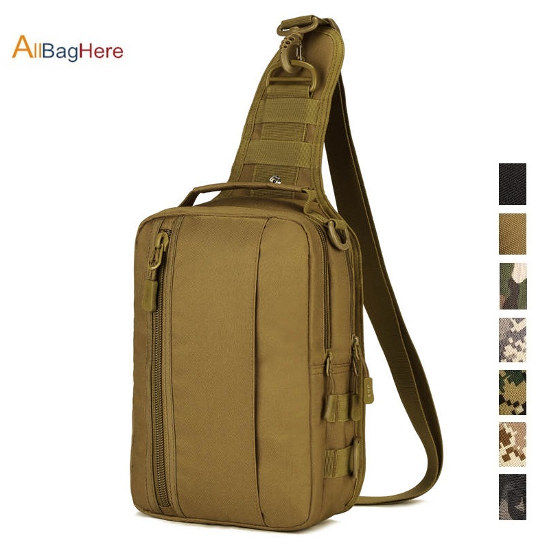 Military Backpack Waterproof Four-Use Bag Handbag Backpack Crossbody Bag Chest Pack For CF Game Tactical Travel Cycling Rucksack
