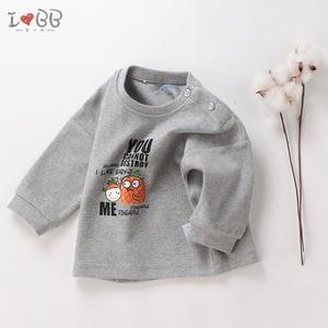 Image 4 - Bebek erkek T Shirt uzun kollu Tees giyim erkek sıcak en sevimli 6 24 ay için