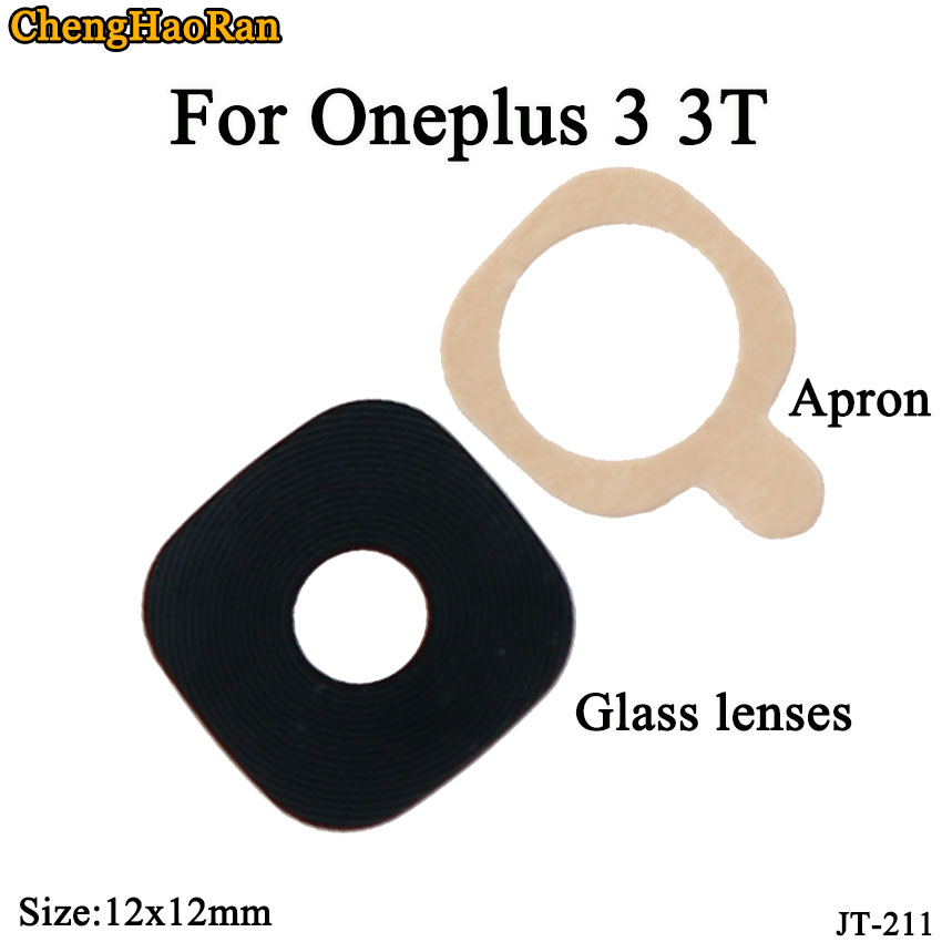 ChengHaoRan 2pcs/lot 12x12mm Rear Back Camera Glass Lens Cover Case With Adhesive For Oneplus 3 3T