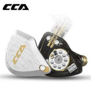 Image 3 - Новинка CCA C12 5BA + 1DD гибридная металлическая гарнитура HIFI бас наушники в ухо монитор шумоподавление наушники сменный кабель V90 ZSX