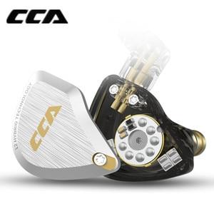 Image 3 - New CCA C12 5BA+1DD Hybrid Metal Headset HIFI Bass Earbuds In Ear Monitor Headphones Noise Cancelling Earphones C10 C16 ZSX A10