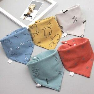 5Pcs/Set Baby Bibs Triangle Double Cotton Bandana Bibs Baby Boys Girls Babador Feeding Smock Infant Burp Cloth Baby Saliva Towel(China)