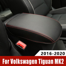Per Volkswagen VW Tiguan mk2 2016-2018 2019 2020 bracciolo Console Pad copertura cuscino scatola di supporto bracciolo tappetino superiore fodera Car Styling
