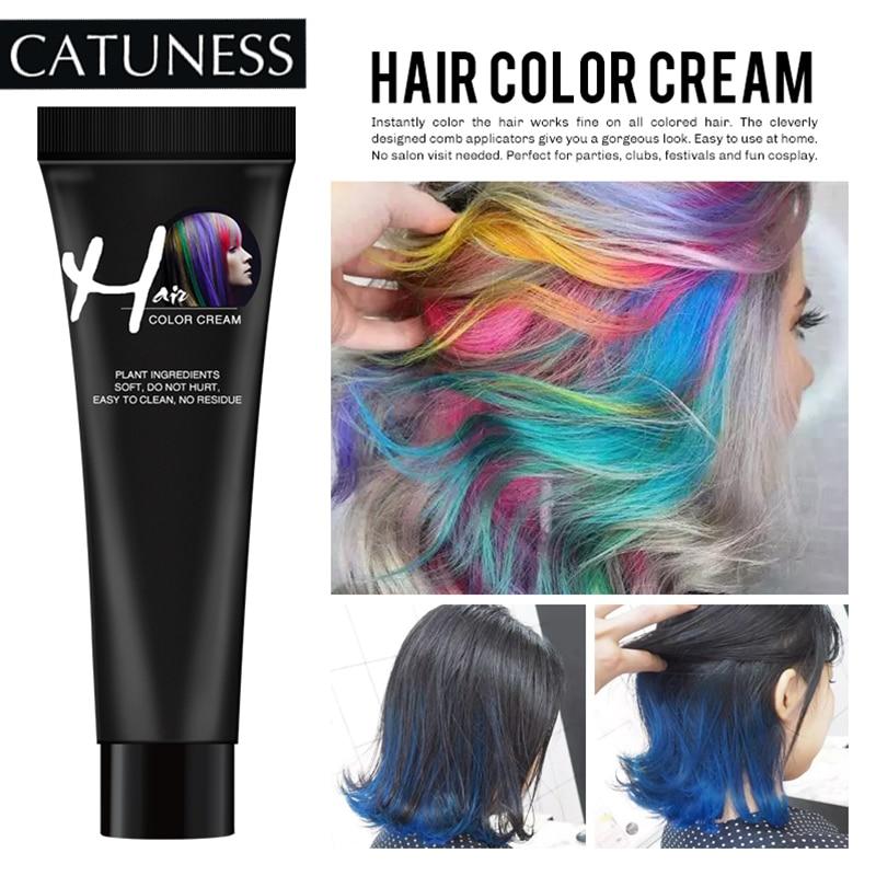 Hair Dye Colors Hair Professional Wax Dye One-time Molding Paste Sliver Hair Color Cream  Grandma Green Hair Dye Wax Mud Cream