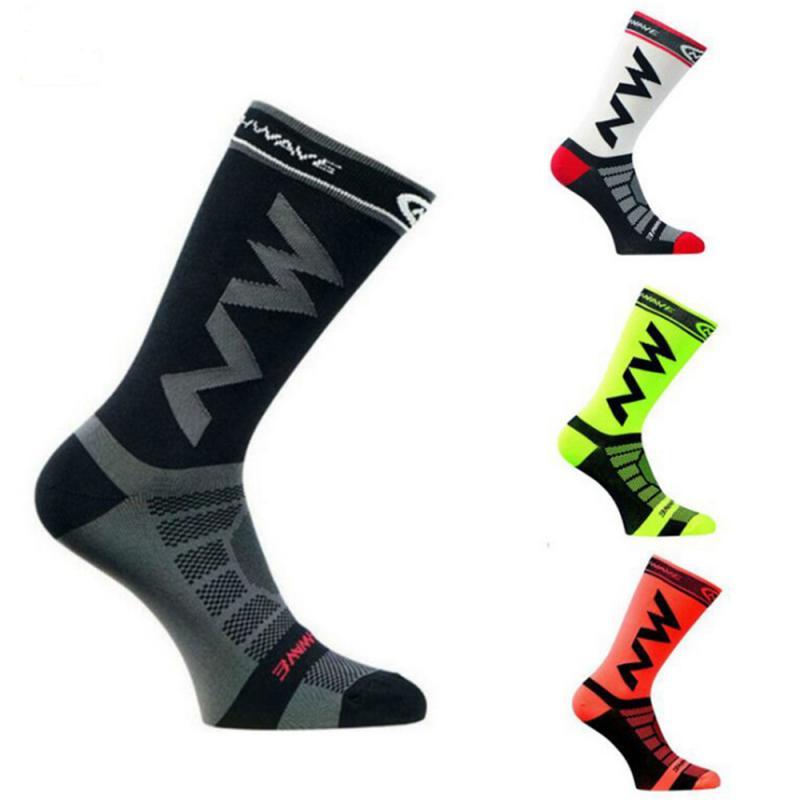 1Pair Super Elite Men Sports Socks Cycling Basketball Running Sport Sock Summer Hiking Tennis Ski Man Women Bicycle Slip Socks