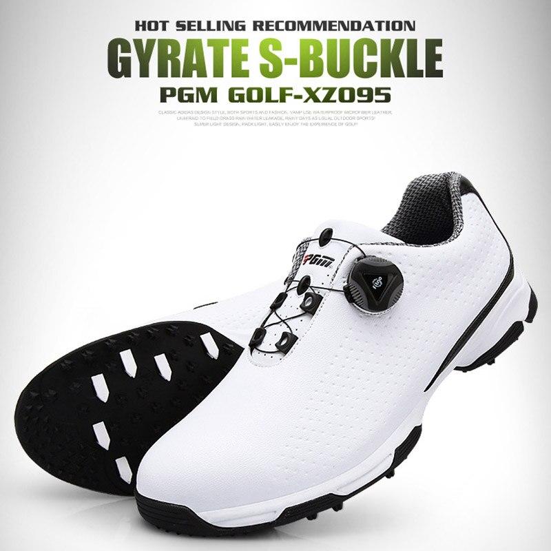 Sapatos de Golfe Esportes à Prova Tênis de Treinamento Masculino Dwaterproof Água Respirável Botões Fivela Anti-deslizamento Whshopping