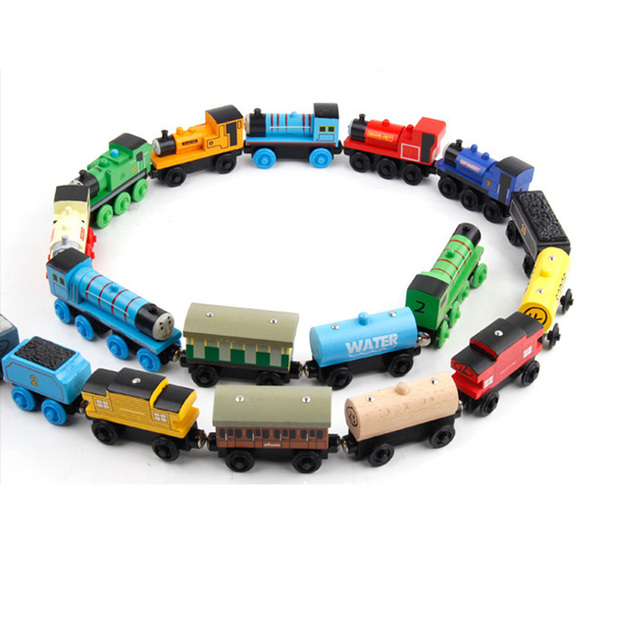 New Emily Wood Train Magnetic Wooden Trains Model Car Toy Compatible with Brio Brand Tracks Railway Locomotives Toys for Child 3