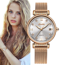 SUNKTA 2019 Rose Gold List Women Watches Quartz Watch Top For Woman Luxury Brand Ladies Watch Girl Clock Relogio Feminino + Box woman watch lady dress watch female quartz watch ladies rose gold bracelet watch top brand luxury girl clock relogio feminino
