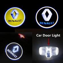 LED Car Door Warning Light For Renault Koleos 2008 2009 2010 2011 2012 -2016 Laser Logo