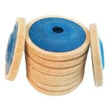 Heißer Verkauf 3 stücke 4 Zoll Wolle Polieren Pads Polieren Winkel Grinder Rad Filz Polieren Disc Pad Set 100mm