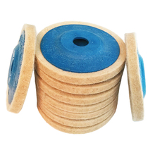 Venta caliente 3 piezas de 4 pulgadas de lana almohadillas de pulido amoladora de ángulo de pulido disco de sentido de 100mm