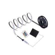 4AAA bateria taśma LED z USB 5V 5050 wodoodporna RGB elastyczna TV tło pasek podświetlenie Accent Light 24key IR zdalny zestaw