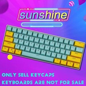 Image 5 - 61 Key PBT Backlight DIY Two Color Mechanical Keyboard Keycap For GH60 / RK61 / ALT61 / Annie / Poker Keyboard keycaps