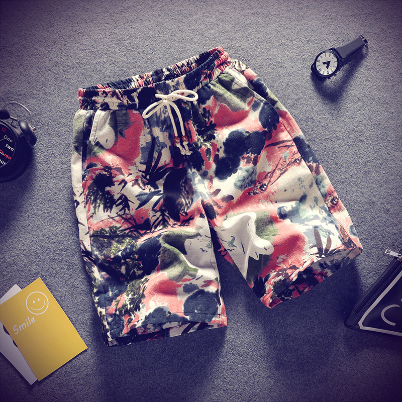 2020 Beach Shorts Men's Quick Dry Swimming Board Pants Draw String Elastic Waist Summer Bathing Beach Wear Shorts For Male